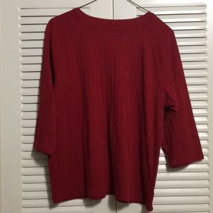 Karen Scott Sport Soft Red Top Size Medium